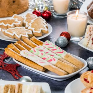 Ginger Sticks with White Chocolate