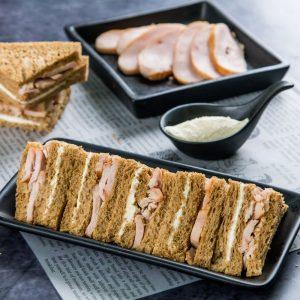 Smoked Chicken and Cream Cheese Sandwiches